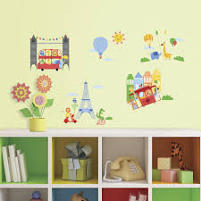 Eiffel Tower Wall Decals Animals In The City Wall Decals Caleydaniel Pte Ltd