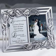 Personalized Wedding Photo Frame Love Is Patient Personalized Wedding Frame Findgift Com