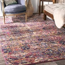 Contemporary Area Rugs Outlet Nuloom Contemporary Distressed Abstract Tribal Pink Rug 5