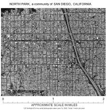 San Diego City Map by North Park A Community In San Diego California