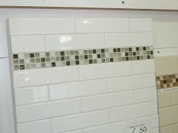 kitchen subway tile backsplash with glass accent love my kitchen