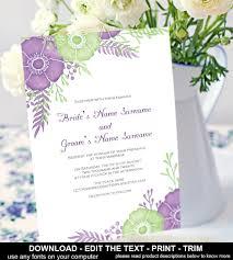 diy wedding invitation download instantly printable wedding invite