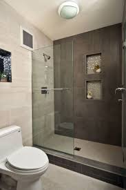 modern walk in shower small bathroom near wood floor bing images