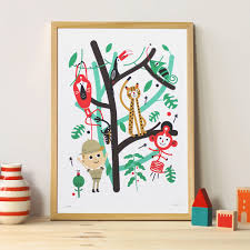 chambre jungle enfant poster chambre enfant jungle makii