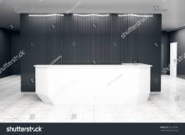 Reception Desk White by Front View Modern White Reception Desk Stock Illustration