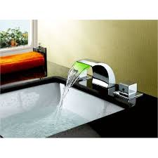 Jacuzzi Waterfall Faucet Replacement Sumerain Double Handle Widespread Led Waterfall Bathroom Sink