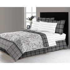 east millburn gray 8 king bed in a bag comforter set m561498