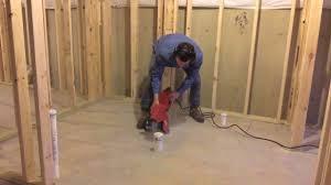 finished basement full bathroom rough plumbing installation