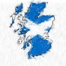 scotland painted flag map photograph by antony mcaulay
