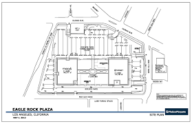 site plan eagle rock plaza los angeles california