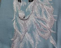 afghan hound fabric embroidered afghan etsy