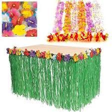 hawaiian luau decoration bundle pack leis flowers grass
