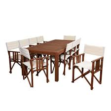 vifah renaissance acacia 4 piece patio dining set with rectangular