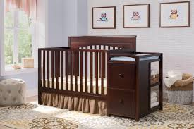 Delta Children Canton 4 In 1 Convertible Crib by Delta Canton Changing Table Nursery Dresser Espresso Eclectic
