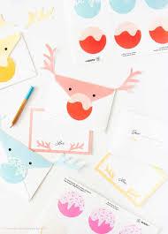 free reindeer printable envelope