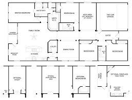 Dual Master Bedroom Floor Plans by 6 Bedroom Ranch House Plans Webshoz Com