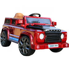 jeep red rebo land rover defender style 12v child u0027s ride on jeep red