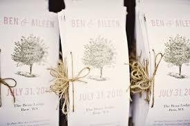 Bi Fold Wedding Program Creative Wedding Programs Tlcevents