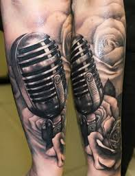 27 best microphone tattoos images on pinterest microphone tattoo
