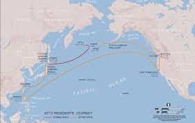 Southeast Alaska Map World War Ii Aleut Relocation Camps In Southeast Alaska