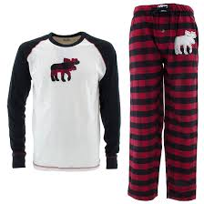 lazy one moose flannel pajamas for