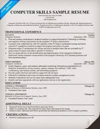 simple resume exles skills section computer skills resume exle template learnhowtoloseweight net