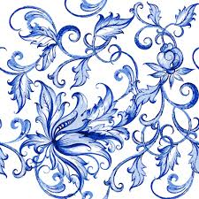 blue floral ornaments vector backgrounds 03 welovesolo