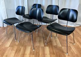eames for herman miller ebony dcm chairs past perfect