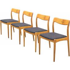 Set Of Four Dining Chairs Set Of Four Dining Chairs For Uldum Møbelfabrik 1950s Design