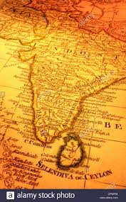 Map Of Sri Lanka Ancient Map Of India And Sri Lanka Focus Is On Madras Map Is