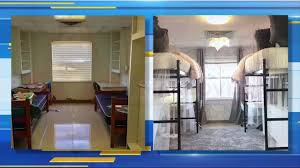 College Dorm Tv Texas Student Roommate Spend More Than 2 000 On Dorm Makeover