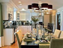 Natural Wood Kitchen Island Kitchen And Dining Room Together Simple Varnished Mahogany Wood