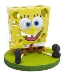penn plax spongebob squidward with drum aquarium ornament