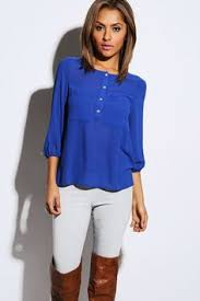 royal blue blouse top available hp nwt casual royal blue chiffon blouse royal blue