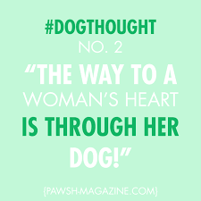 Cute Weird Love Quotes by The Way To A Woman U0027s Heart Is Through Her Dog