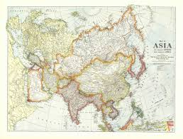 Europe And Asia Map by National Geographic Europe And Asia Map 1921 Maps Com