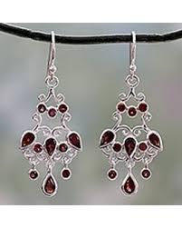 Chandelier Earrings India Here S A Great Deal On Garnet Chandelier Earrings