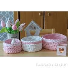 panier rangement chambre bébé lot de 3 paniers corbeilles rangement chambre bébé boites crochet