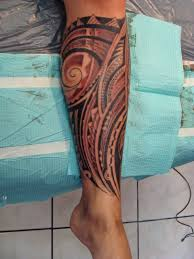 hawaiian tribal tattoos for leg photos pictures and sketches