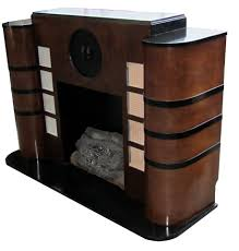 Art Deco Bedroom Furniture Abundant Electric Fireplace With Wooden Panels As Mantels As Well