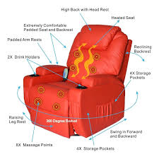 amazon com homcom deluxe heated vibrating pu leather massage