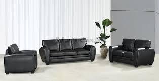 Contemporary Black Leather Sofa Contemporary Black Bonded Leather Sofa Set G353