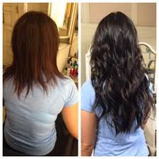 hair extensions az before and after color and beaded row extensions by hailey