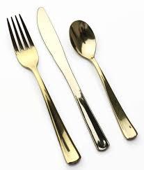 gold plastic silverware dining room brilliant gold plastic silverware with glitters gold