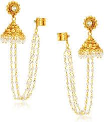 jhumki earring flipkart buy sukkhi creative alloy jhumki earring online at