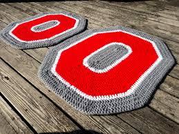 Osu Umbrellas by Ohio State Crochet Rug Set Osu Buckeye Decorative Rug Set
