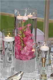 Bling Wrap For Vases Cylinder Set Centerpiece With Submerged Gladiolus Floating