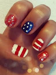 patriotic nail art u2013 red white and blue nails with red white and