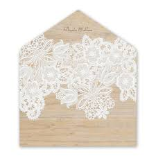 wedding envelope wood and lace envelope liner invitations by
