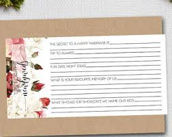 Marriage Advice Cards For Wedding Marriage Advice Card Etsy